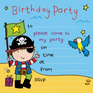 Pirate Island Children's Party Invitation